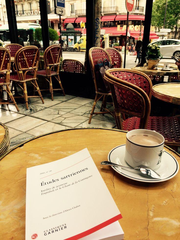 """Assis à Le Dôme Montparnasse, découvrir deux inédits de jeunesse de Sartre: """"Empédocle"""" et """"Le chant de la contingence"""" dans la revue """"Etudes sartriennes"""""""