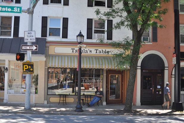 6. Talula's Table, in Philly's Kennett Square, is one of the hardest restaurants in the city to get a reservation at. By day it's a market, but at 7 p.m. every night it becomes a tiny, BYOB restaurant, with one farm table that seats 12 and a butcher block in the kitchen that can squeeze in eight. To get a reservation, guests must call exactly one year in advance and commit to bringing at least 10 people.