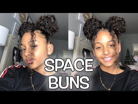 Space Buns Edges Tutorial Lexivee03 Youtube Hair Bun Tutorial Curly Bun Hairstyles Space Buns Hair