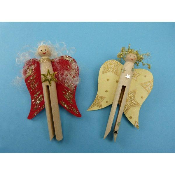 Engel Aus Rundkopfklammern Basteln Weihnachten