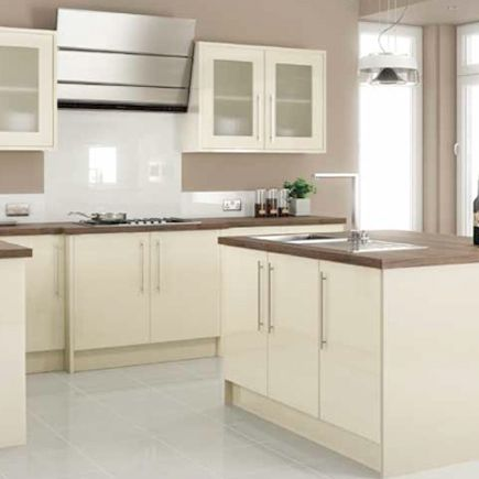 25 best ideas about cream gloss kitchen on pinterest for Homebase kitchen cabinets