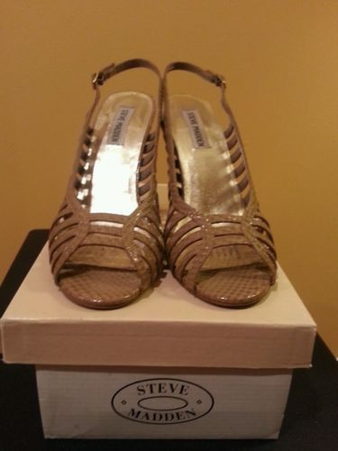 Steve-Madden-Akron-Taupe-Sandals-Womens-Size-8-5
