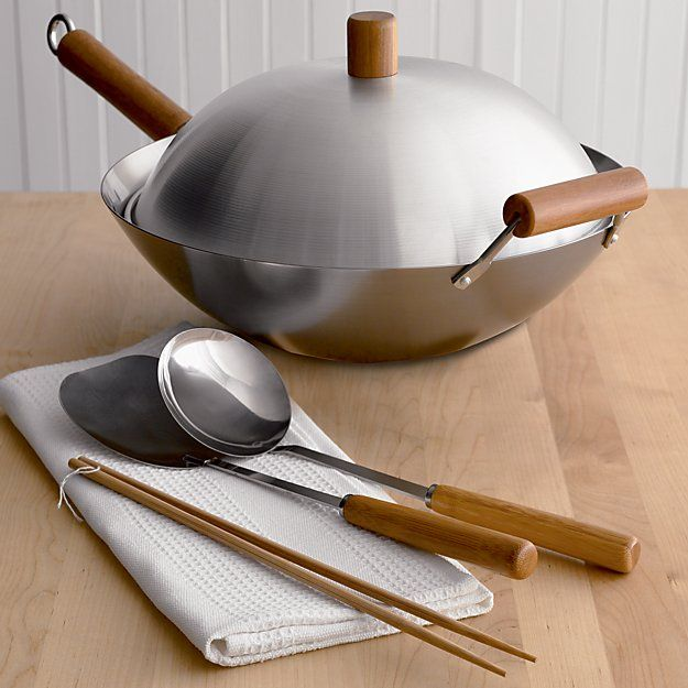 Shop for a wok at Crate and Barrel. Browse non stick, cast iron and carbon steel woks from top brands including Lodge and Calphalon. Order online.