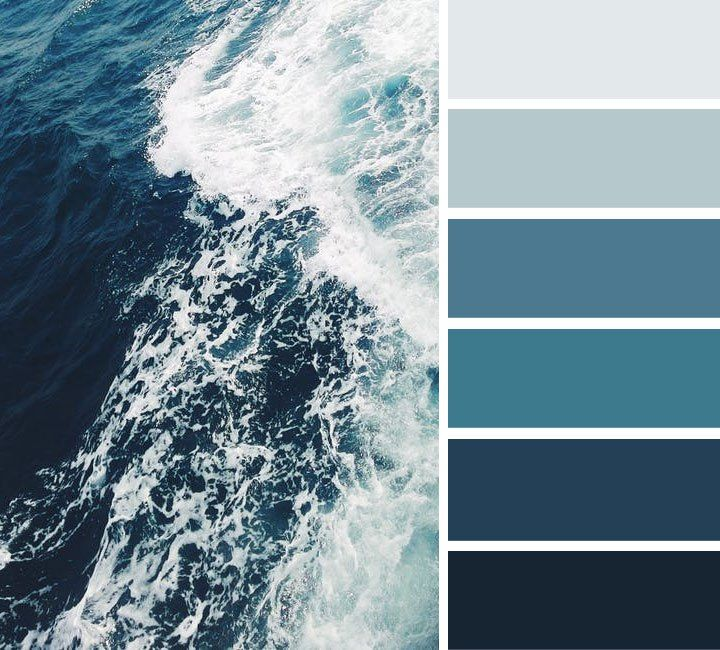 Best 25 ocean color palette ideas on pinterest ocean for Ocean blue color combinations