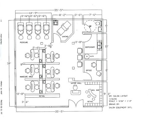 Grooming Shop Floor Plans: 13 Best Salon Layout Plans Images On Pinterest