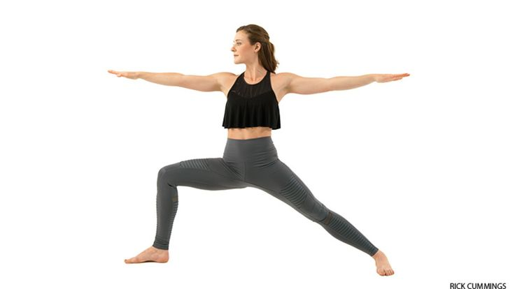Named for a fierce warrior, an incarnation of Shiva, this version of Warrior Pose increases stamina.