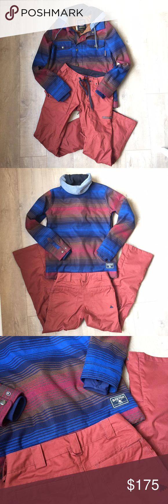 Burton Jacket & Pants Set Burton Dryride ski / snowboard pants & coat set. Excellent condition, only worn twice. Super fun & hard to miss on the slopes! Hooded Coat is XS, pants are S. Burton Jackets & Coats Ski & Snowboard
