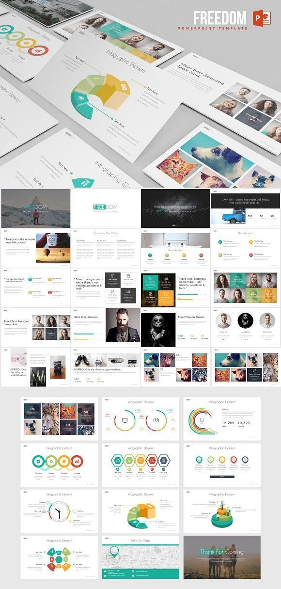 Freedom Powerpoint Template Favorite Pinterest Presentation