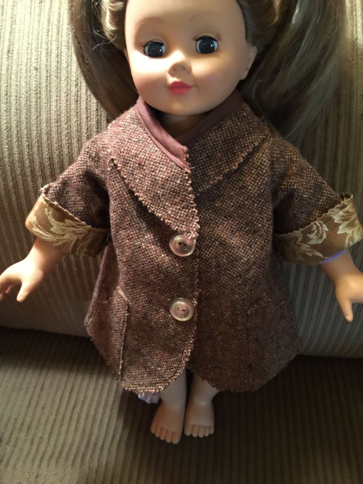 """American Girl Doll Clothes  Fits All  18"""" Dolls, Brown Tweed Coat with Lining by CreativeCreationsDeb on Etsy"""