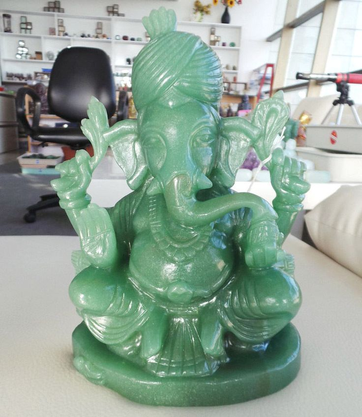 8.37 lbs Ebay Best Natural Fine Work Indian Jade Ganesha Figurine -Spirituality