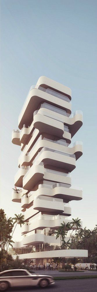 cool Elegant Residential Tower with a view Limassol Beach | Orange Architects Check more at http://www.arch2o.com/elegant-residential-tower-with-a-view-limassol-beach-orange-architects/
