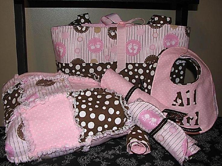 Baby Girl Diaper bag ensemble - via @Craftsy