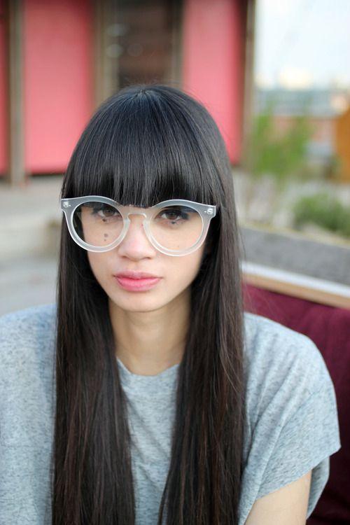 Love Her Bangs With Her Glasses Fringe Pinterest