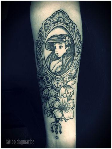 Ariel the little mermaid tattoo, childhood memories!