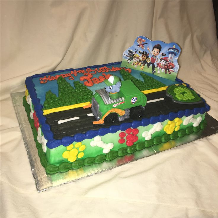 Paw Patrol Rocky cake by Inphinity Designs. Please visit my FB page Inphinity Designs at https://m.facebook.com/profile.php?id=71791500352&refsrc=https%3A%2F%2Fwww.facebook.com%2Fpages%2FInphinity-Designs%2F71791500352