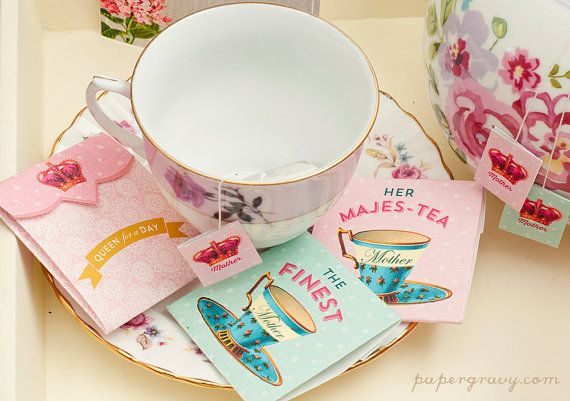 Printable Mother's Day tea bag labels and envelopes | Paper Gravy