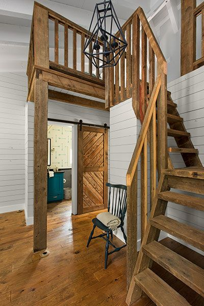 Space saving stairs for small house