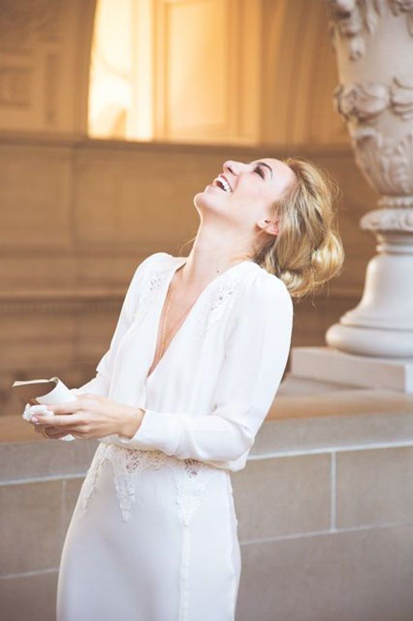 Couple's Simple Wedding At City Hall Is Actually Amazingly Beautiful (Photos)