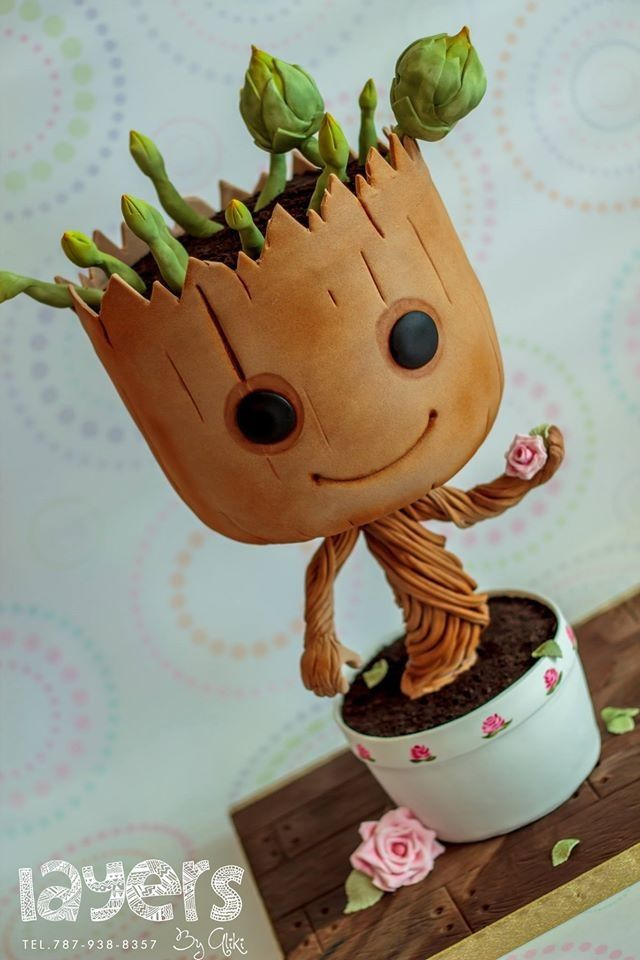 baby Groot cake | Nerdy Ninja Platypus