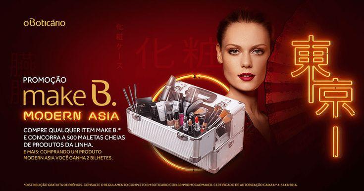 A nova coleção de Make B., inspirada nas tendências da Ásia Pop, veio com uma promoção incrível: na compra de qualquer item Make B, você concorre a 500 maletas cheias de produtos da linha! Clique no link para saber como participar e conhecer a nova coleção: boticario.com.br/promocaomakeb.