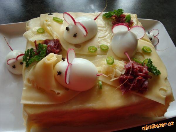 Slaný dort s myškama inspirace u Lucie K. ID 34311 děkuji