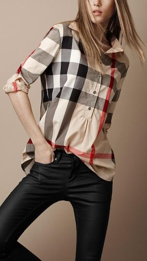 Best 25 burberry shirt ideas on pinterest classic white for Burberry brit plaid shirt