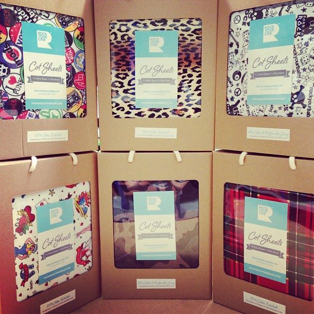 Rock Your Baby now providing babes with the funkiest cot sheets around