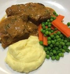A beautiful slow cooked Steak Diane