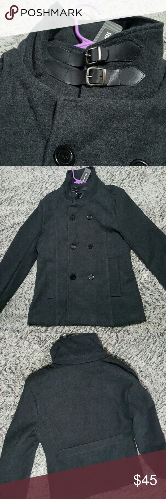 "NWT. Woolen Trench Coat For Men/women ""Slimming Trendy Turndown Collar Double Breasted Long Sleeve Woolen Trench Coat For Men"". They said for men, so i bought it as a gift and he said it was alittle feminine for him because its slimming. Its very cute, so i say it can be for men or women. If i could fit a M i would definitely wear it! zyfg free  Jackets & Coats Trench Coats"