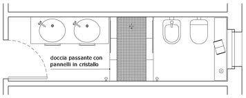 Progetto bagno piccolo stretto e lungo cerca con google bathroom pinterest piccolo and - Progetto bagno lungo e stretto ...