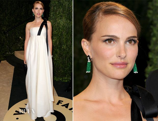 Natalie Portman In Christian Dior - 2013 Vanity Fair Party