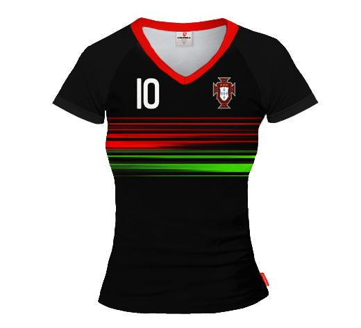 PORTUGAL AWAY 2015/16 Football Women's Jersey With Custom Name And Number