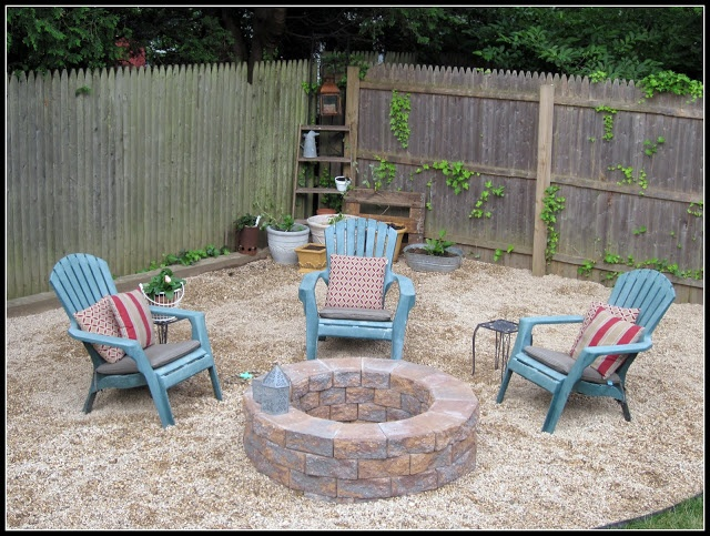 Building a Fire Pit. I would add a piece of concrete or stone under your firewood.