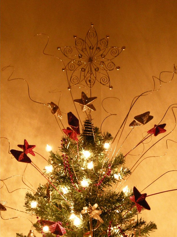 72 best Christmas Tree Topper images on Pinterest | Christmas tree ...