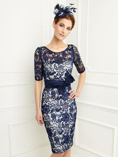 2015 Mother Of The Bride Dresses Sheath Scoop Half Sleeves Navy Blue Lace Short Brides Mother Dresses For Weddings With Jacket