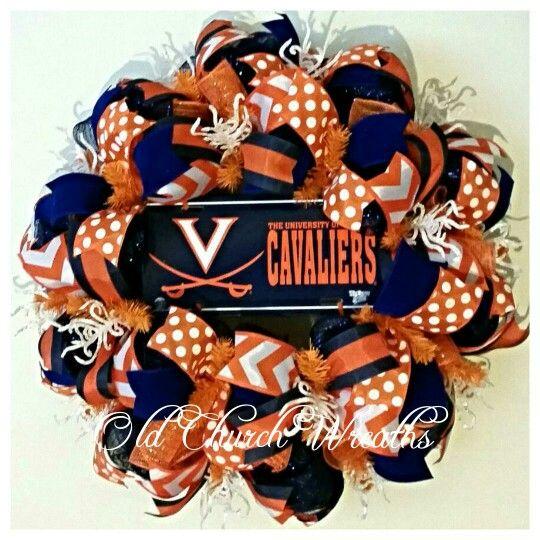 UVA Cavaliers wreath. Http://www.facebook.com/oldchurchwreaths