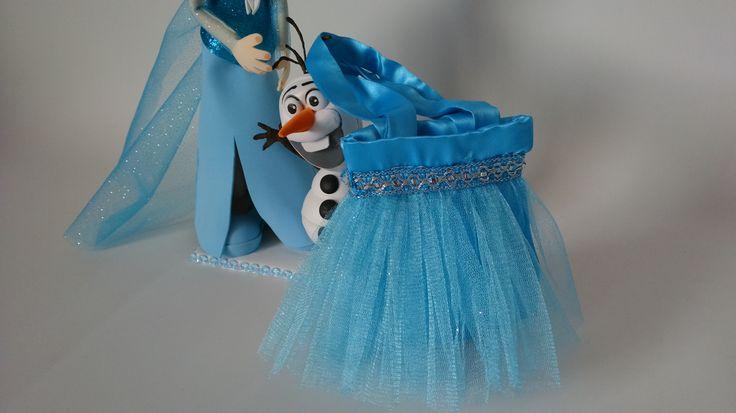 Mini bolso tutu Elsa que será un complemento perfecto de la fiesta Mini bolsa tutu para una reina de hielo