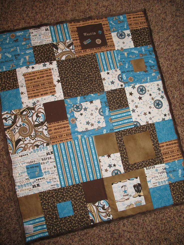 Western Quilt.. aww love This quilt would be cute in pastel pink and yellow, and brown.....and match dd new room she'll be getting.