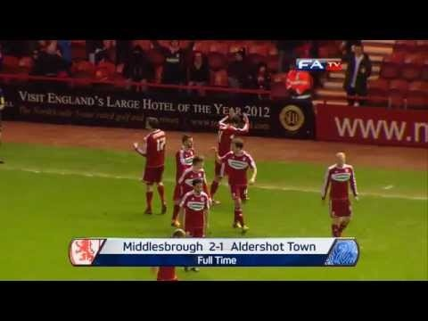 FOOTBALL -  Middlesbrough 2-1 Aldershot Town   The FA Cup 4th Round 2013 - http://lefootball.fr/middlesbrough-2-1-aldershot-town-the-fa-cup-4th-round-2013/