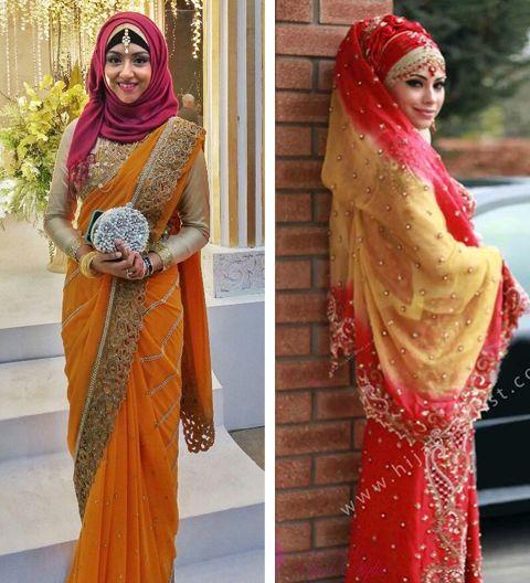 baju muslim bahan sari india