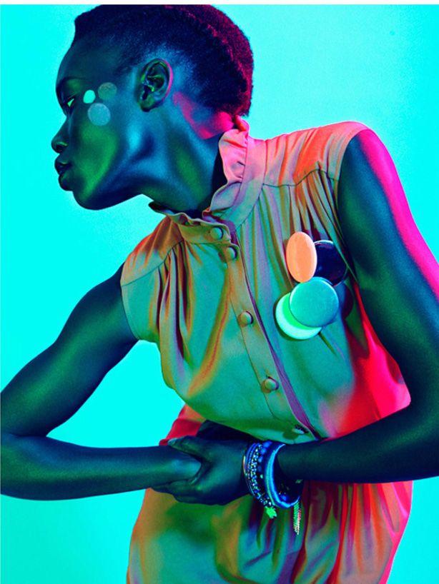 """blue summer"" institute magazine fashion editorial, model: sarah batt #fashion #photography #modelsofcolor"