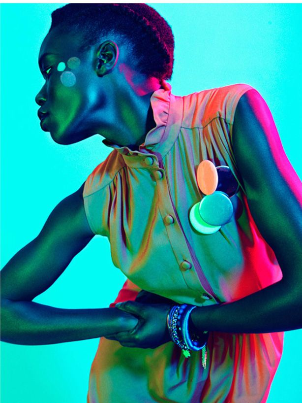 """blue summer"" institute magazine fashion editorial, model: sarah batt #fashion #photography #modelsofcolor"