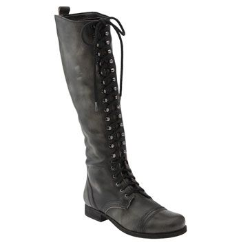Steven by Steve Madden 'Abee' Tall Boot Womens Black Leather Size 8 M