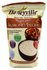 "Honeyville Blanched Almond Flour - ""Almond flour is my favorite alternative to white flour. I LOVE it! You can do so much with it and it Honeyville's Blanched Almond Flour is very light and fluffy."""