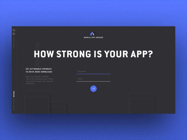Mobile App Grader Website by Julien Renvoye for Mixpanel