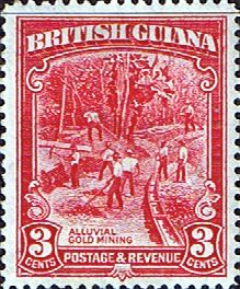British Guiana 1934 King George V SG 290 Gold Mining Fine Mint SG 290 Scott 212 Other West Indies Stamps here