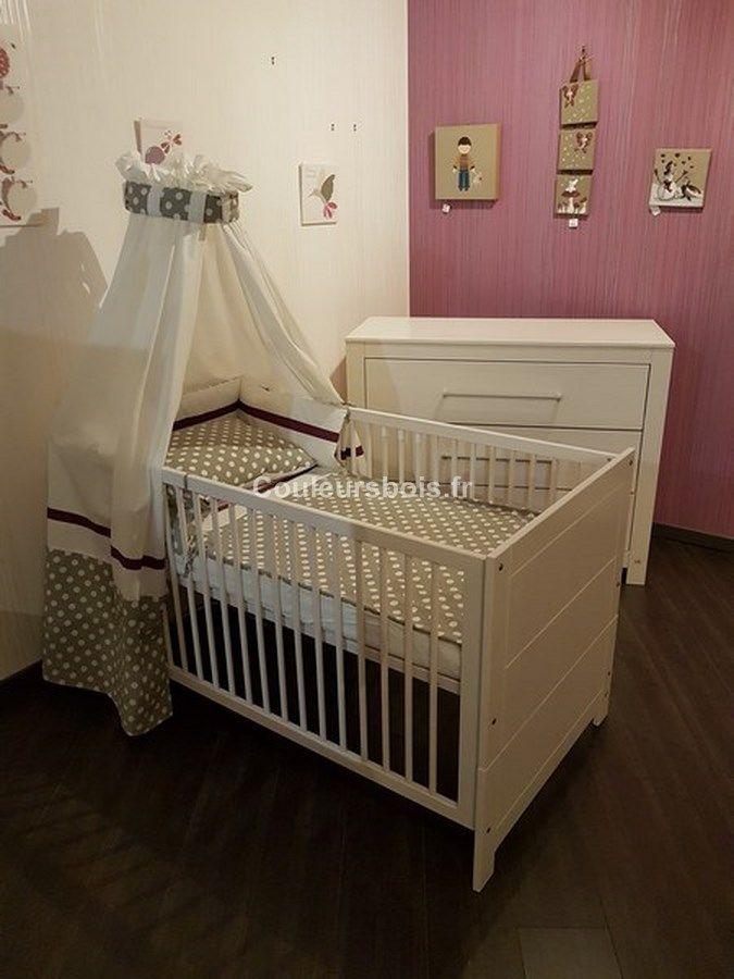 Destockage dune chambre bébé évolutive complète pinolino en bois massif incluant 1 lit bébé