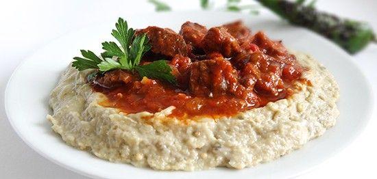 Турецкий рецепт приготовления Хюнкар бегенди – восторг султана Sultan's Delight нежное мясо, томатный соус на пюре из баклажанов