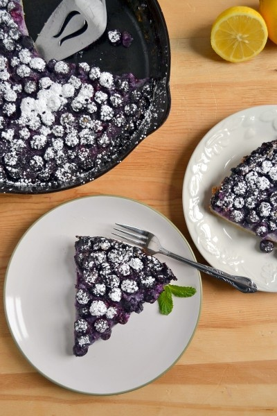 Lemon Blueberry Clafoutis