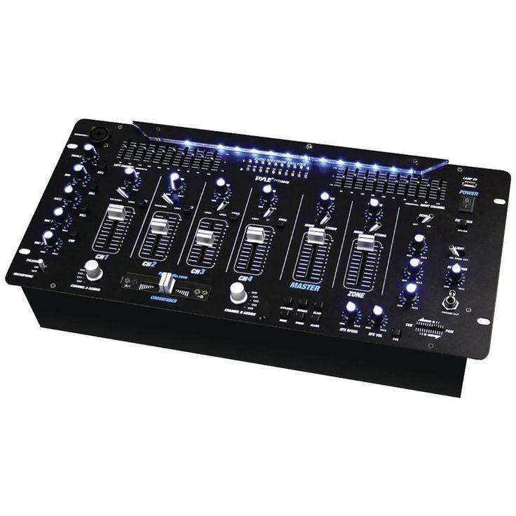 PYLE PRO PYD1964B 6-Channel Bluetooth(R) DJ Mixer